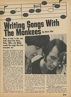 <cite>Tiger Beat</cite> (February 1968), Writing Songs with The Monkees, Page 31