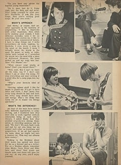 <cite>Tiger Beat</cite> (February 1968), Writing Songs with The Monkees, Page 33