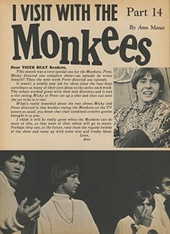 <cite>Tiger Beat</cite> (February 1968), I Visit with The Monkees (Part 15), Page 40