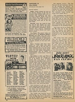 <cite>Tiger Beat</cite> (February 1968), It's Happening in Hollywood, Page 60