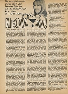 <cite>Tiger Beat</cite> (February 1968), Meow…w!, Page 66