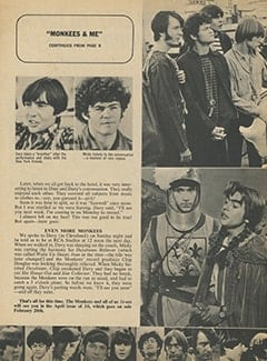 <cite>16</cite> (March 1968), Monkees & Me, Page 10