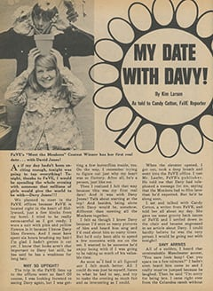 <cite>Fave</cite> (March 1968), My Date with Davy, Page 32