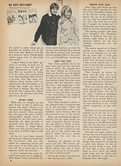 <cite>Fave</cite> (March 1968), My Date with Davy, Page 36