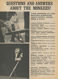 <cite>Flip</cite> (March 1968), Questions and Answers About The Monkees, Page 14