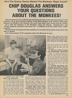<cite>Flip</cite> (March 1968), Chip Douglas Answers Your Questions About The Monkees, Page 24