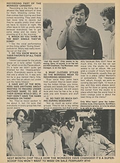 <cite>Flip</cite> (March 1968), Chip Douglas Answers Your Questions About The Monkees, Page 25