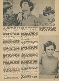 <cite>Monkee Spectacular</cite> (March 1968), Monkee Rumors, Page 11