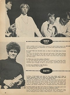 <cite>Monkee Spectacular</cite> (March 1968), You Interview The Monkees, Page 20