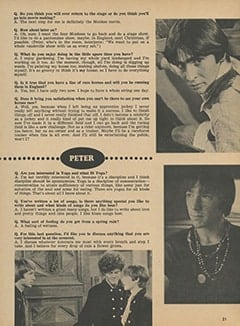 <cite>Monkee Spectacular</cite> (March 1968), You Interview The Monkees, Page 21