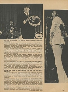 <cite>Monkee Spectacular</cite> (March 1968), Barbara Hamaker Talks About Her Groovy Job with The Monkees, Page 23