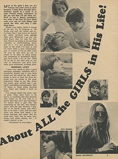 <cite>Tiger Beat</cite> (March 1968), Davy Talks Frankly About All the Girls in His Life, Page 05