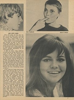 <cite>Tiger Beat</cite> (March 1968), Davy Talks Frankly About All the Girls in His Life, Page 07