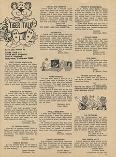 <cite>Tiger Beat</cite> (March 1968), Tiger Talk, Page 09