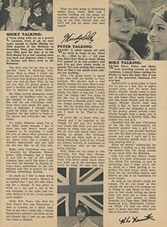 <cite>Tiger Beat</cite> (March 1968), Monkee Talk, Page 13