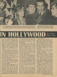 <cite>Tiger Beat</cite> (March 1968), It's Happening in Hollywood, Page 15