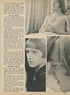 "<cite>Tiger Beat</cite> (March 1968), Here's the Inside Story on What It's Like When Peter Tork Asks ""Would You Like to Come Up to My Pad?"", Page 33"
