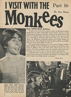 <cite>Tiger Beat</cite> (March 1968), I Visit with The Monkees (Part 16), Page 36