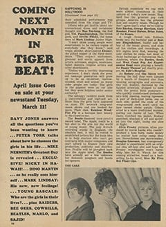 <cite>Tiger Beat</cite> (March 1968), It's Happening in Hollywood, Page 66