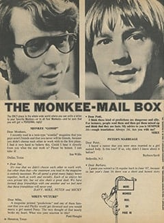 <cite>16</cite> (April 1968), The Monkee-Mailbox, Page 38