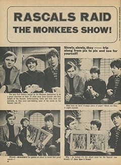 <cite>16</cite> (April 1968), Rascals Raid The Monkees Show, Page 60