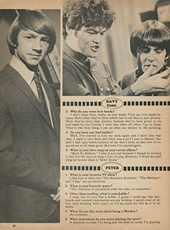 <cite>Monkee Spectacular</cite> (April 1968), You Interview The Monkees, Page 20