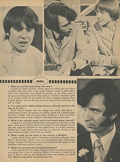 <cite>Monkee Spectacular</cite> (April 1968), You Interview The Monkees, Page 21