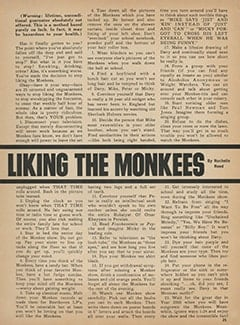 <cite>Monkee Spectacular</cite> (April 1968), 25 Ways to Stop Liking The Monkees, Page 25