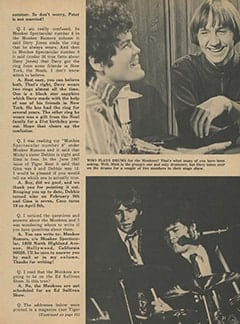 <cite>Monkee Spectacular</cite> (April 1968), Monkee Rumors, Page 31