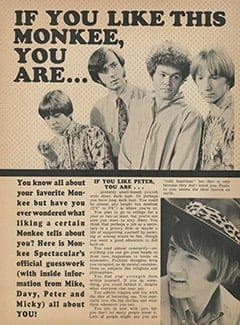 <cite>Monkee Spectacular</cite> (April 1968), If You Like This Monkee, You Are…, Page 36