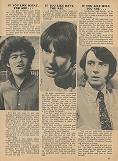 <cite>Monkee Spectacular</cite> (April 1968), If You Like This Monkee, You Are…, Page 37