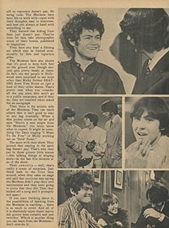 <cite>Monkee Spectacular</cite> (April 1968), What Others Can Learn from The Monkees, Page 55