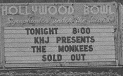 HOLLYWOOD BOWL / Symphonies under the Stars / Tonight 8:00 KHJ presents The Monkees / Sold out