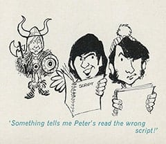 'Something tells me Peter's read the wrong script!'