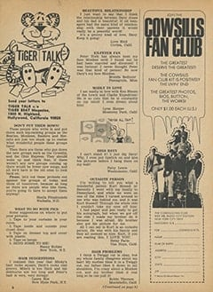 <cite>Tiger Beat</cite> (April 1968), Tiger Talk, Page 06