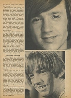 <cite>Tiger Beat</cite> (April 1968), Peter Talks About the Girls He Loves and What Love Means to Him, Page 21