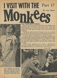 <cite>Tiger Beat</cite> (April 1968), I Visit with The Monkees (Part 17), Page 46