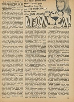 <cite>Tiger Beat</cite> (April 1968), Meow&hellip;w!, Page 53