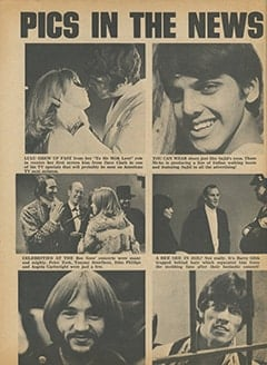 <cite>Tiger Beat</cite> (April 1968), Pics in the News, Page 66
