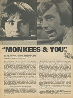 <cite>16</cite> (May 1968), Monkees & You, Page 08