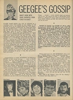 <cite>16</cite> (May 1968), Geegee's Gossip, Page 24