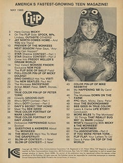 <cite>Flip</cite> (May 1968) table of contents