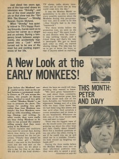 <cite>Monkee Spectacular</cite> (May 1968), A New Look at the Early Monkees, Page 09