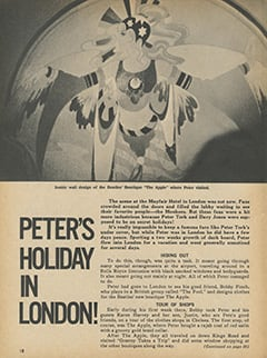 <cite>Monkee Spectacular</cite> (May 1968), Peter's Holiday in London, Page 18
