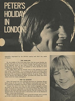 <cite>Monkee Spectacular</cite> (May 1968), Peter's Holiday in London, Page 21