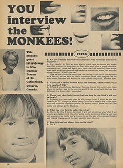 <cite>Monkee Spectacular</cite> (May 1968), You Interview The Monkees, Page 38