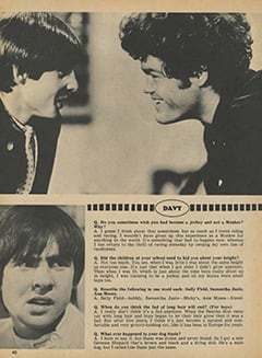 <cite>Monkee Spectacular</cite> (May 1968), You Interview The Monkees, Page 40