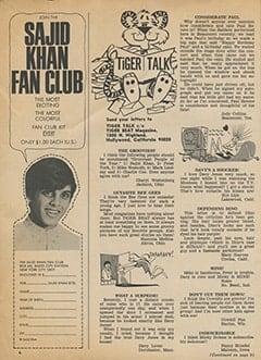 <cite>Tiger Beat</cite> (June 1968), Tiger Talk, Page 06