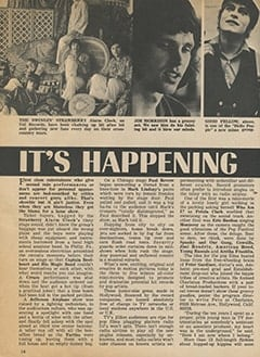 <cite>Tiger Beat</cite> (June 1968), It's Happening in Hollywood, Page 14