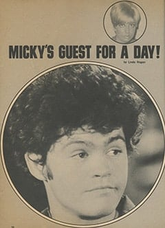 <cite>Tiger Beat</cite> (June 1968), Micky&rsquo;s Guest for a Day, Page 30